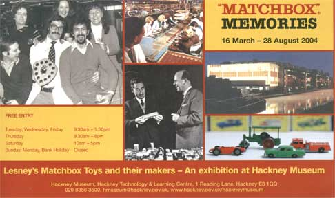 Flyer for Matchbox memories at the Hackney Museum